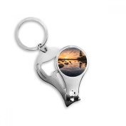 Ocean Sky Stone Water Science Nature Picture Metal Key Chain Ring Multi-function Nail Clippers Bottle Opener Car Keychain Best Charm Gift