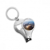 Ocean Water Shell Science Nature Picture Metal Key Chain Ring Multi-function Nail Clippers Bottle Opener Car Keychain Best Charm Gift