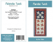 Patriotic Twist by Rose Pohlar Runner Quilt Pattern Uses Lil Twister Tool