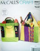 McCalls Craft Pattern 9871 Misses Bags