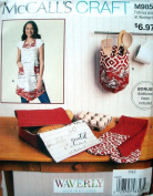 McCalls Craft Pattern 9851 Apron and Kitchen Accessories S M L Sizes