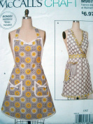 McCalls Craft Pattern 9878 Misses Apron 5 Variations S M L Size 8-18
