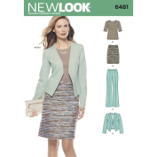 New Look Sewing Pattern 6481 / S0954 - Misses' Skirt, Pants, Jacket and Knit Top, A