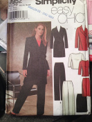 Vintage Uncut Easy Chic Simplicity Sz 4-10 Pants, Skirt, Lined Jacket and Knit Top Pattern 9952