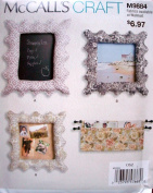 McCalls Craft Pattern 9884 Frames in 2 sizes and Magazine Rack Easy to Sew