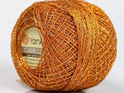 Copper Gold Metallic Braid Thread Camellia #50147 - 20 gramme 207 yards