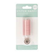 American Crafts We R Memory Keepers Stitch Happy 2 Piece Sewing Thread, Pink