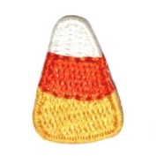 ID 0855B Candy Corn Patch Halloween Trick Or Treat Embroidered Iron On Applique