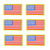 MADKING American Flag Patch Yellow Border with Hook and loop