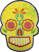 Papapatch Mexican Sugar Skull Tribal Tattoo Rockabilly Day Of Dead Día De Los Muertos Biker DIY Embroidered Applique Sew Iron on Patches