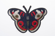 Butterfly Embroidered Craft Bouquet Cute Butter Needlework Floral Decor Sew Iron