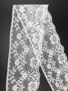 ELLA MAMA Lace Trim DIY Craft Light Delicate Ribbon Vintage Flora Pattern Scallop Edge 5.7cm Wide,15yds,White, for Wedding Decorations