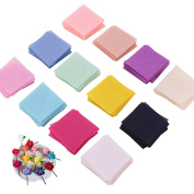 "240 PCS 0.98"" 12 Colours DIY Handmade Hair Accessories Square Fabric Piece"
