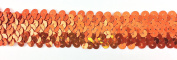 Trimplace Orange 3.2cm Stretch Sequin - 3 Row- 10 Yards