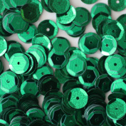 50gram/Park 6mm Cup Facet Round SEQUIN Loose sequins for embroidery, bridal, applique, arts, crafts, and embellishment Selling Per Pack GREEN