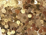 50gram/Park 6mm Flat Round SEQUIN Loose sequins for embroidery, bridal, applique, arts, crafts, and embellishment Selling Per Pack GOLD