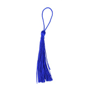 Makhry 100pcs 13cm/5 Inch Silky Floss bookmark Tassels with 2-Inch Cord Loop and Small Chinese Knot for Jewellery Making, Souvenir, Bookmarks, DIY Craft Accessory