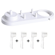 Nincha Electric Toothbrush Head Holder With Electric Toothbrush Stand + 4 PCS Toothbrush Heads Cover for Oral-B