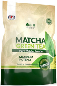 Matcha Green Tea Powder - Premium Grade 250g Double Size Pouch - UK Manufactured Ultra Fine Easy To Mix Matcha Powder with High Antioxidant Rating - Perfect for Smoothies, Drinks and Baking - Vegan & Vegetarian Friendly – 100 Servings of Matcha Tea Pow ..