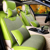 PENG Car seat cover leather flax car cushion seat cover four seasons cushions car seat cover