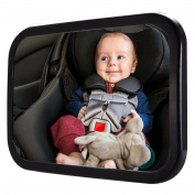 Baby Car Back Seat Mirror, PChero No Tools Required for Keeping an Eye on Rear Facing Babies or Infants