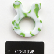 CHERISH LEWIS BUNNY TEETHER(green and white