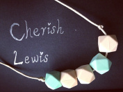 CHERISH LEWIS- Mom's hexagon Silicone beads necklace baby teething(BPA FREE & Non-toxic.