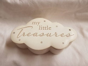 Small My little Treasures Cloud design memory keepsake pot, Approx 15x9x4.5cms