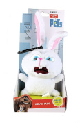 The Secret Life Of Pets - Soft Plush Toy Keychain Keyclip in Gift Box - Snowball 'Scared' the Rabbit