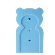 BLUE BABY TEDDY SOFT SPONGE BATH SUPPORT CUSHION BATHTIME MAT FRM 0 MONTHS