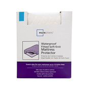 Mainstays Waterproof Fitted Soft Knit Mattress Protector, Twin