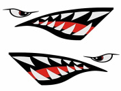 Shark Mouth Reflective Decals Sticker Fishing Boat Canoe Kayak Graphics Accessories