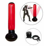 Fitness Punching Tower,Punching Bag Stand Power Tower 150cm Tall Inflatable Stress Punch Tower Punching Speed Bag For Box Boxing