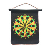 Silfrae Magnetic Dart Board Sets with 4pcs Reversible Dart Flights Double Sides for Sports and Games