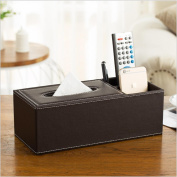 KKLL PU leather Multifunction Tissue Box Cover Desktop Living Room Paper Cover Case Remote control Mobile phone Stationery Storage Box , 13