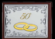 Jewellery Box 50 ° Anniversary GBG Line Seven cm 11 x 16 x 4.5 wood and Bi Laminated Silver Made In Italy