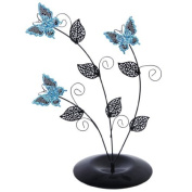Butterfly Tree Earring Jewellery Holder Display Stand Rack---Blue and Black