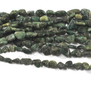 Neerupam collection Green Colour Natural Brazilian Emerald Gemstone Plain Tumble Shape Beads 1 Line Loose 30cm - 38cm Strand