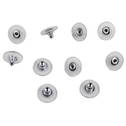 Pack Of 10 Hypo Allergenic Bullet Clutch Earring Backs with Pad (5 pairs) - Silver Platinum Colour