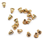 Approx.50Pcs Bullet Shape Copper Earring Safety Backs Gold