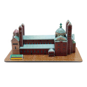 Creative 3D Puzzle Paper Model Speyer Cathedral DIY Fun & Educational Toys World Great Architecture Series, 37 Pcs