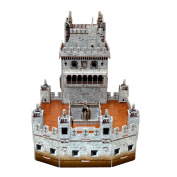 Creative 3D Puzzle Paper Model Belem Tower DIY Fun & Educational Toys World Great Architecture Series, 31 Pcs