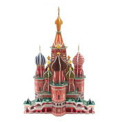 Creative 3D Puzzle Paper Model St. Basil's Cathedral DIY Fun & Educational Toys World Great Architecture Series, 60 Pcs