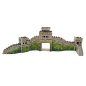 Creative 3D Puzzle Paper Model Great Wall DIY Fun & Educational Toys World Great Architecture Series, 28 Pcs