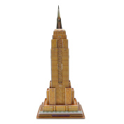 Creative 3D Puzzle Paper Model Empire State Building DIY Fun & Educational Toys World Great Architecture Series, 34 Pcs