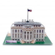 Creative 3D Puzzle Paper Model White House DIY Fun & Educational Toys World Great Architecture Series, 40 Pcs