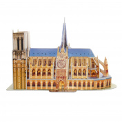 Creative 3D Puzzle Paper Model Notre Dame De Paris DIY Fun & Educational Toys World Great Architecture Series, 30 Pcs