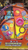 Summer Fun Pack 5 In 1 Includes 2 Hula Hoops/Sky Bouncer Flying Disc/2 Jump Ropes