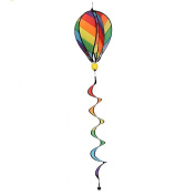 Ladaidra Wind Spinner, Fire Balloon 3D Stripe Colourful Hanging Decor for House Farm Yard