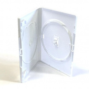 25 X Amaray Double White - DVD/Blu Ray/CD/Wii Case By Dragon Trading